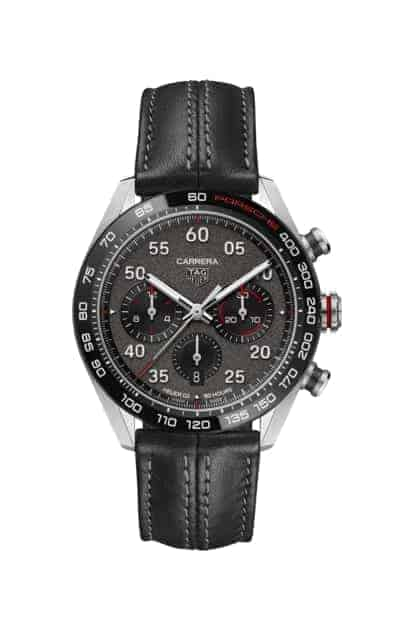 TAG Heuer Carrera Porsche Heuer 02 Automatic Mens Grey Leather Chronograph
